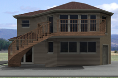 New 2 story detached garage and sun room loft addition.