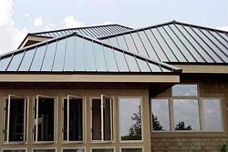 metal roofing and casement windows
