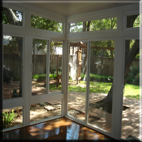 Vinyl Window Sunroom Wall, interior view