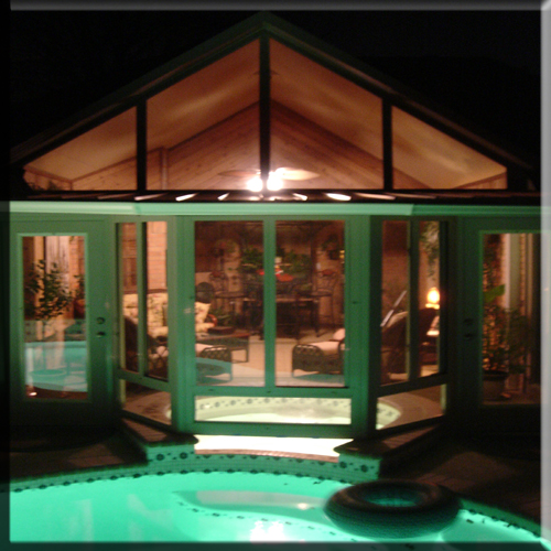 Custom Sunroom Design, Spa enclosure