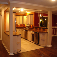 Open floor plan kitchen design and remodel